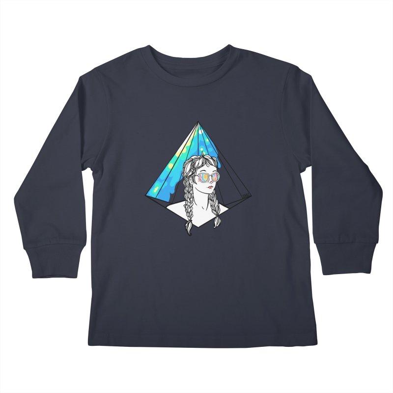 Diamond View Kids Longsleeve T-Shirt by VRTrend's Artist Shop