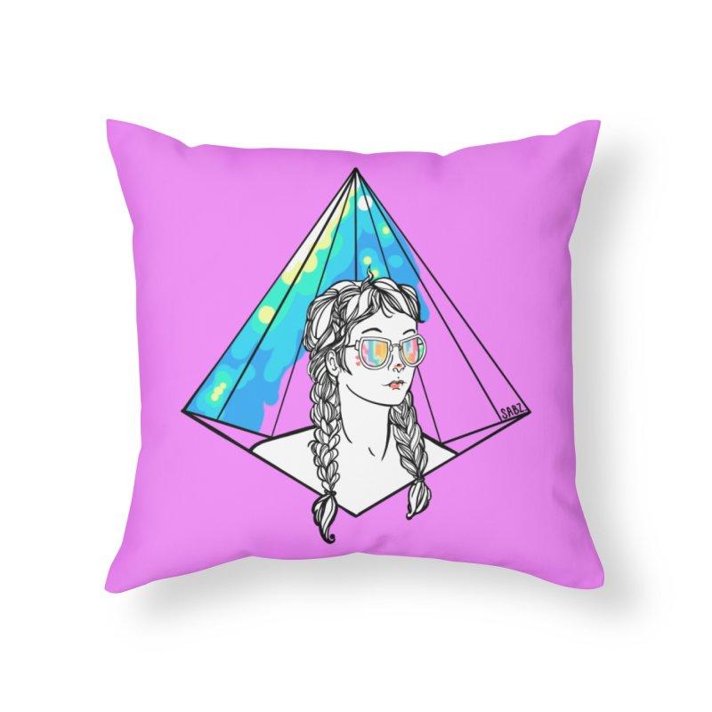 Diamond View Home Throw Pillow by VRTrend's Artist Shop