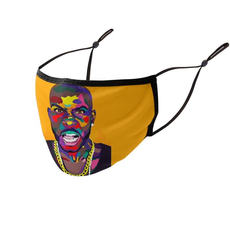 Get At Me Dog Accessories Face Mask by Vakseen Art