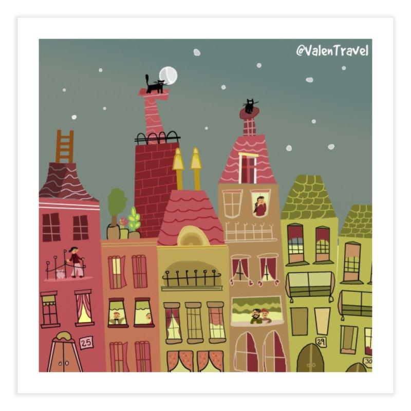 Little Town, El Pueblito. Paisajes para decorar. Home Fine Art Print by Valentravel's Artist Shop