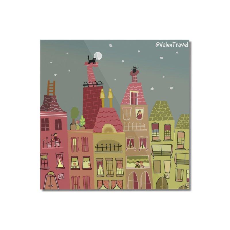 Little Town, El Pueblito. Paisajes para decorar. Home Mounted Acrylic Print by Valentravel's Artist Shop