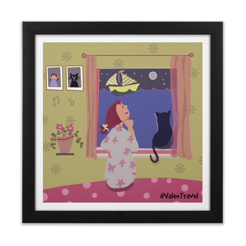La ventana de los sueños. Paisajes para decorar tu hogar Home Framed Fine Art Print by Valentravel's Artist Shop
