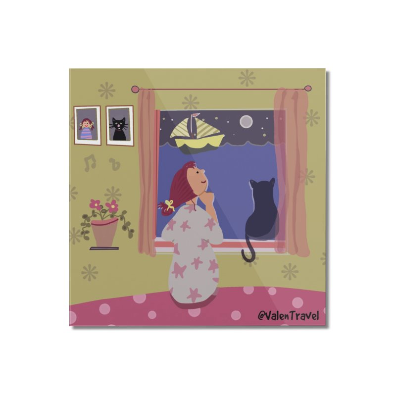 La ventana de los sueños. Paisajes para decorar tu hogar Home Mounted Acrylic Print by Valentravel's Artist Shop