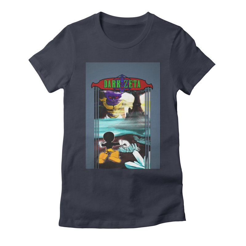 DARK ZETA NES 80s Mock Cover Women's Fitted T-Shirt by Valerius's Artist Shop