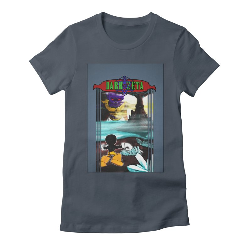 DARK ZETA NES 80s Mock Cover Women's Fitted T-Shirt by Valerius's Artist Shop