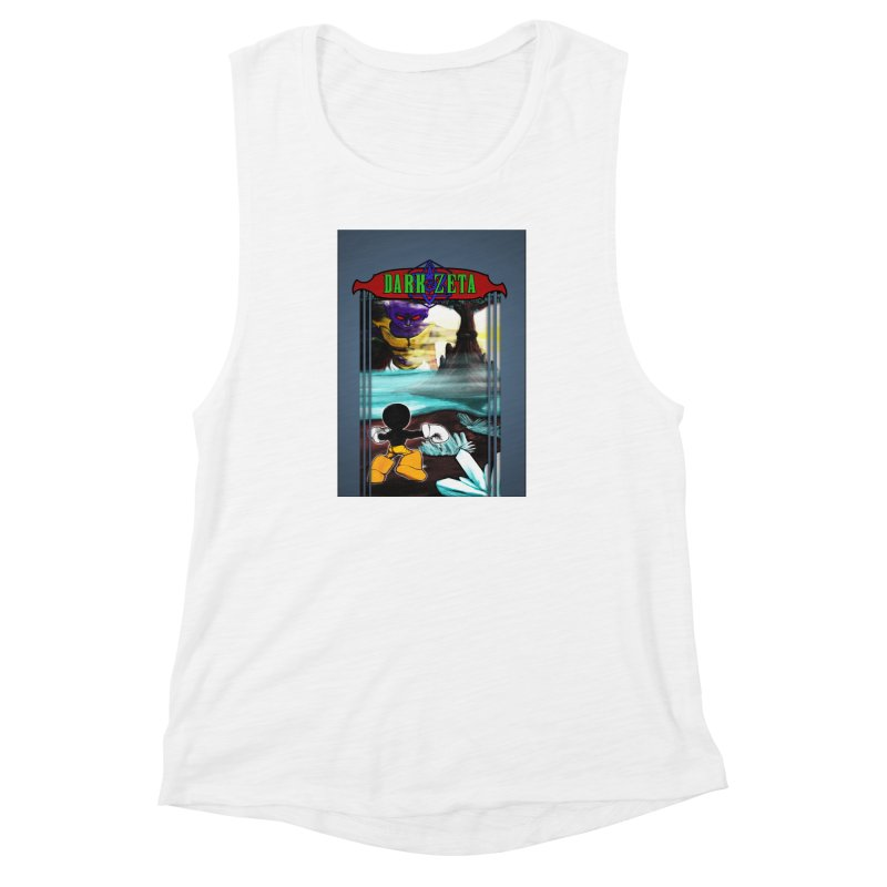 DARK ZETA NES 80s Mock Cover Women's Muscle Tank by Valerius's Artist Shop