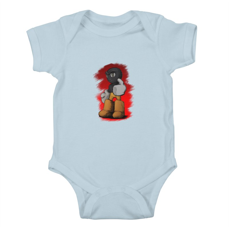 Dark Alpha - Special Kids Baby Bodysuit by Valerius's Artist Shop