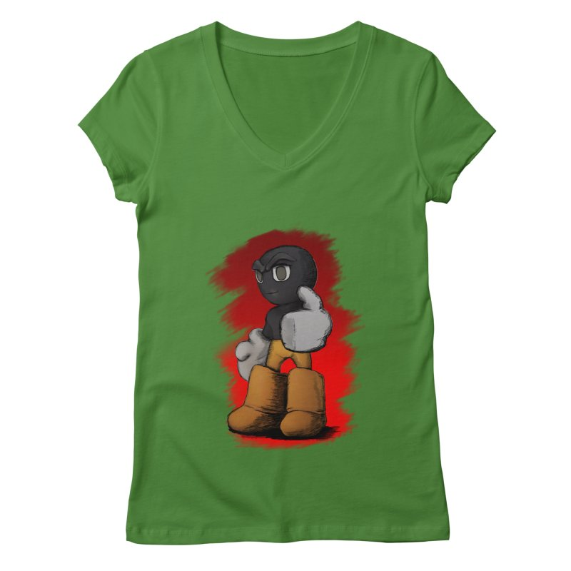 Dark Alpha - Special Women's Regular V-Neck by Valerius's Artist Shop