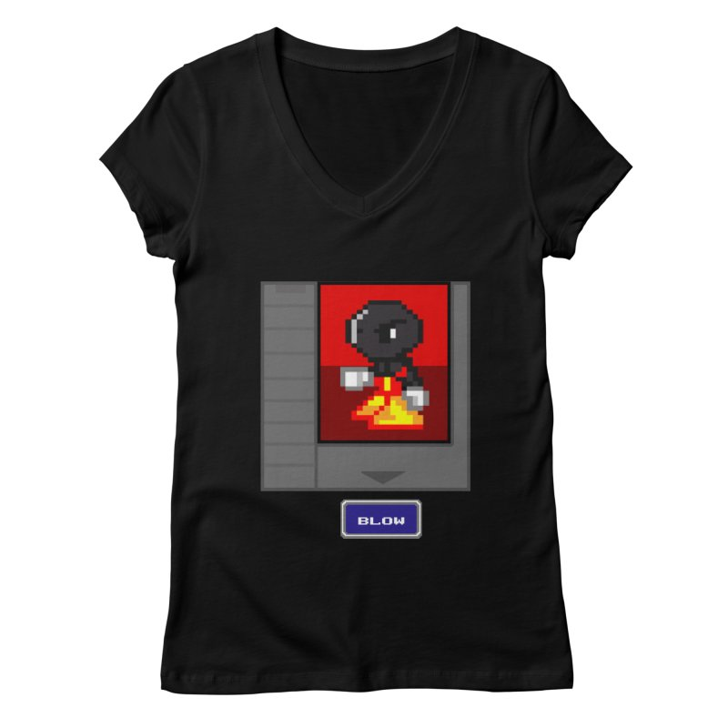 DARK ZETA Cartridge Original icon Women's V-Neck by Valerius's Artist Shop
