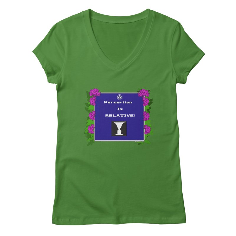 """Perception is """"Truth"""" Women's V-Neck by Valerius's Artist Shop"""