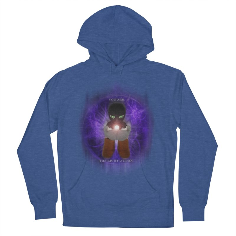 We Are the Light Within Men's French Terry Pullover Hoody by Valerius's Artist Shop