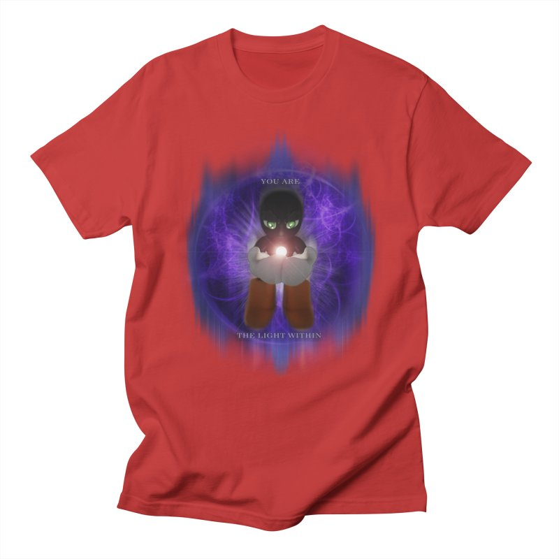We Are the Light Within Men's Regular T-Shirt by Valerius's Artist Shop