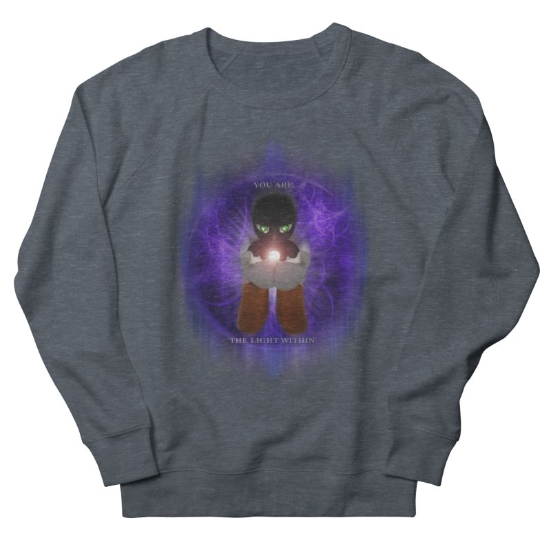 We Are the Light Within Women's French Terry Sweatshirt by Valerius's Artist Shop