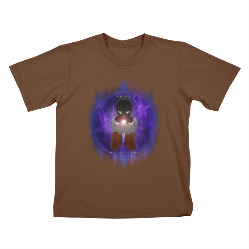 We Are the Light Within Kids T-Shirt by Valerius's Artist Shop