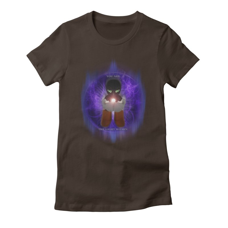 We Are the Light Within Women's Fitted T-Shirt by Valerius's Artist Shop
