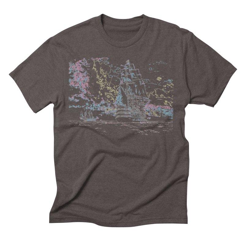 Eyes to Sea Transparent in Men's Triblend T-Shirt Tri-Coffee by VandelayPro's Shop