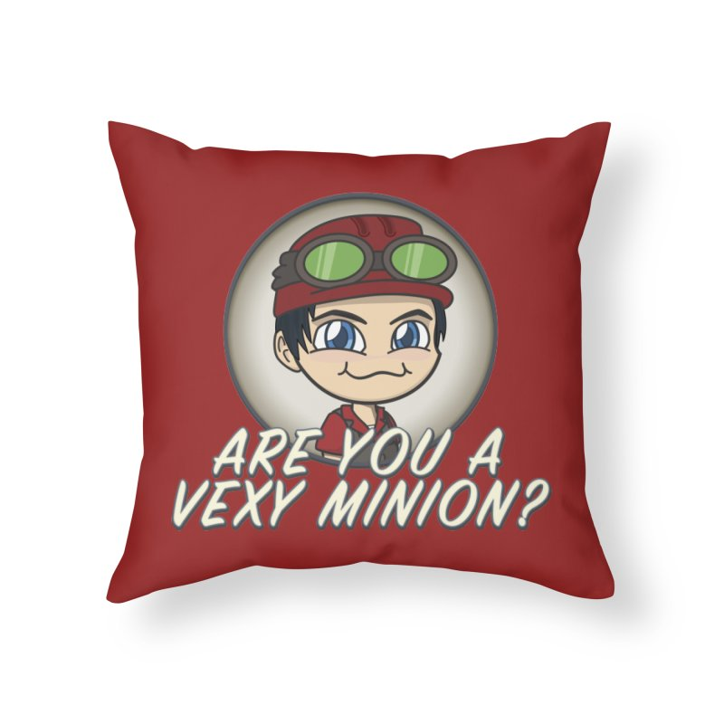 Vexy Minion - Red Home Throw Pillow by All Things Vechs