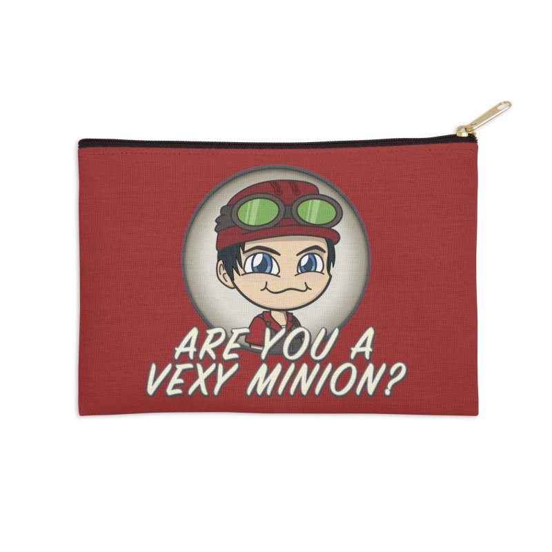 Vexy Minion - Red Accessories Zip Pouch by All Things Vechs