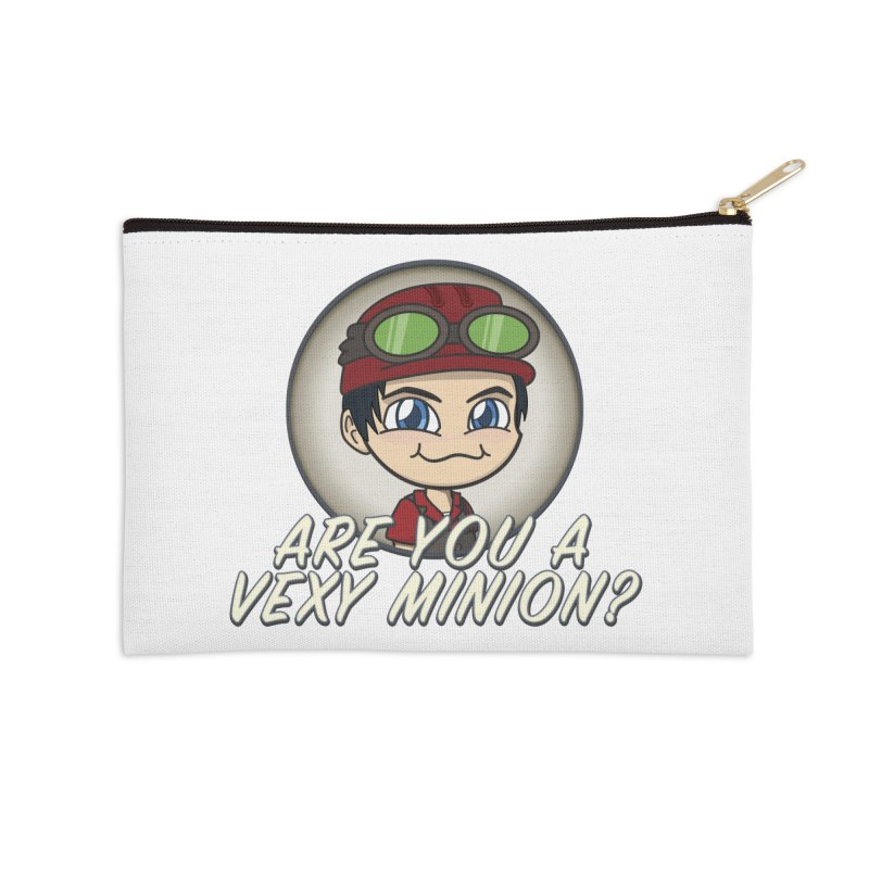 Vexy Minion - White Accessories Zip Pouch by All Things Vechs