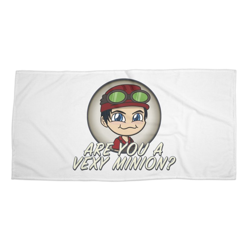 Vexy Minion - White Accessories Beach Towel by All Things Vechs