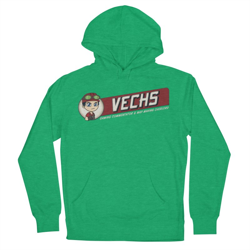 Vechs Logo - Overlord Men's French Terry Pullover Hoody by All Things Vechs