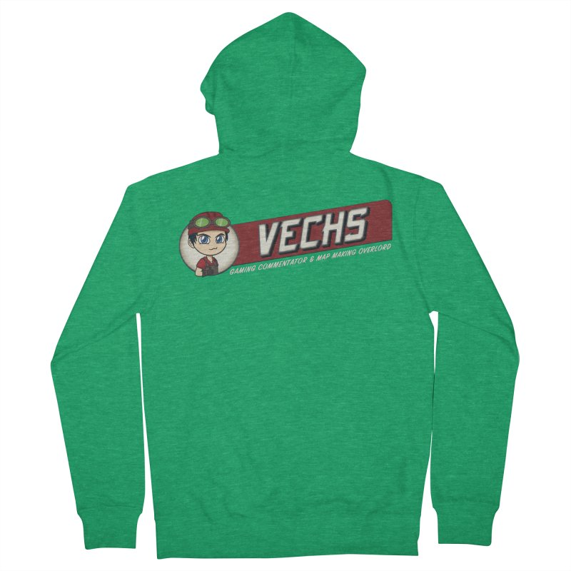 Vechs Logo - Overlord Men's French Terry Zip-Up Hoody by All Things Vechs