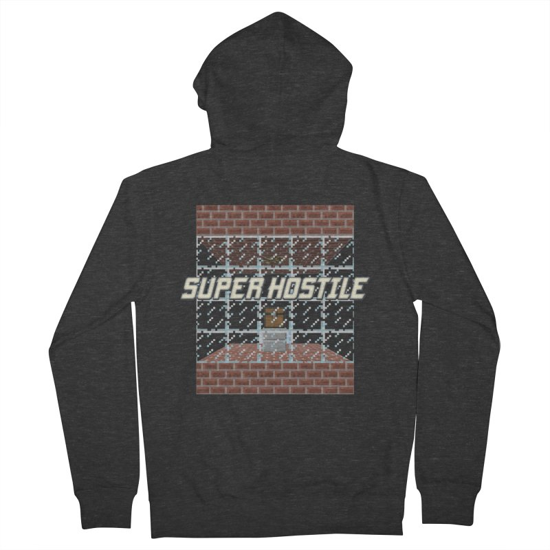 Super Hostile Fleecy Box Men's French Terry Zip-Up Hoody by All Things Vechs