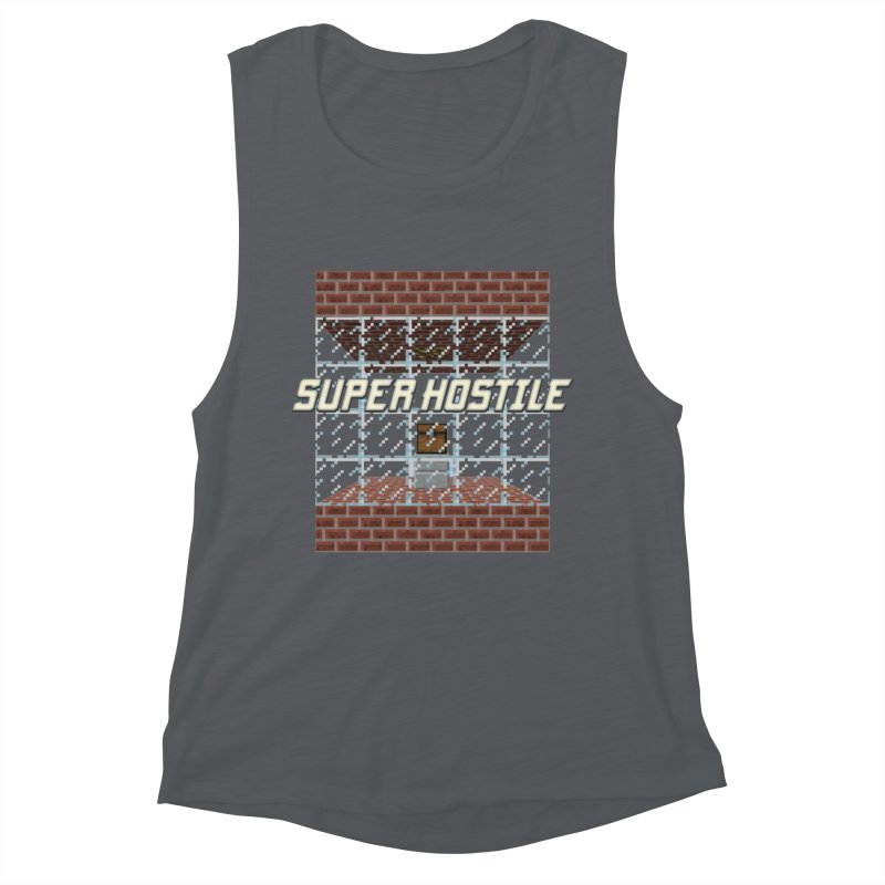 Super Hostile Fleecy Box Women's Muscle Tank by All Things Vechs