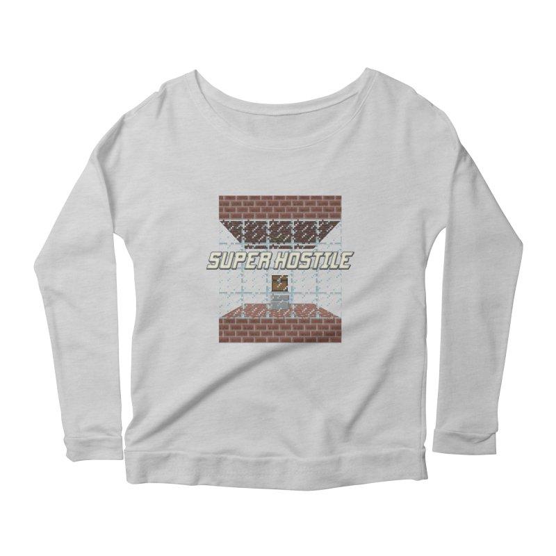 Super Hostile Fleecy Box Women's Scoop Neck Longsleeve T-Shirt by All Things Vechs
