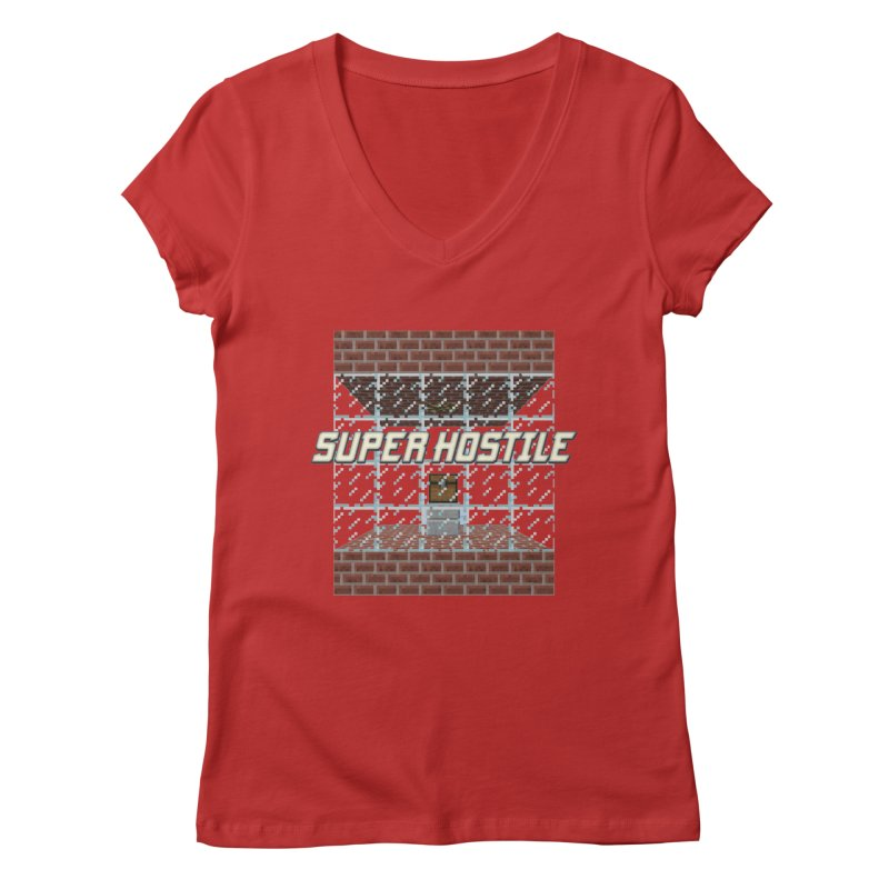 Super Hostile Fleecy Box Women's Regular V-Neck by All Things Vechs