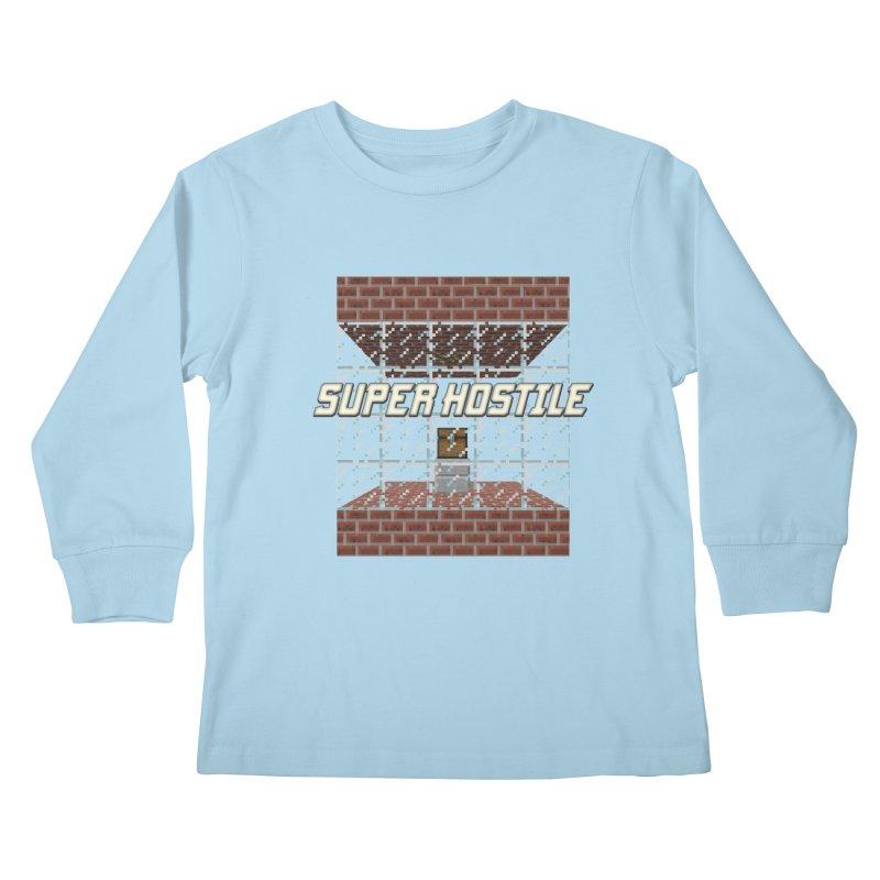Super Hostile Fleecy Box Kids Longsleeve T-Shirt by All Things Vechs