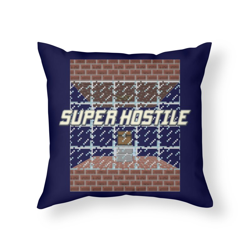 Super Hostile Fleecy Box Home Throw Pillow by All Things Vechs