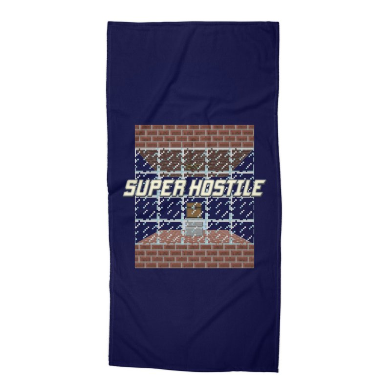Super Hostile Fleecy Box Accessories Beach Towel by All Things Vechs