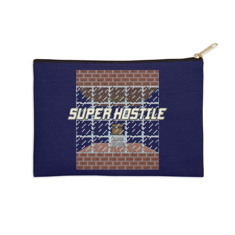 Super Hostile Fleecy Box Accessories Zip Pouch by All Things Vechs
