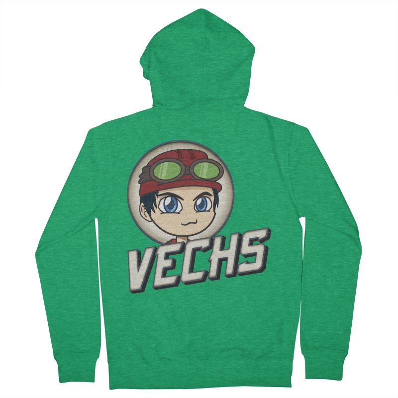 Vechs Logo Women's French Terry Zip-Up Hoody by All Things Vechs