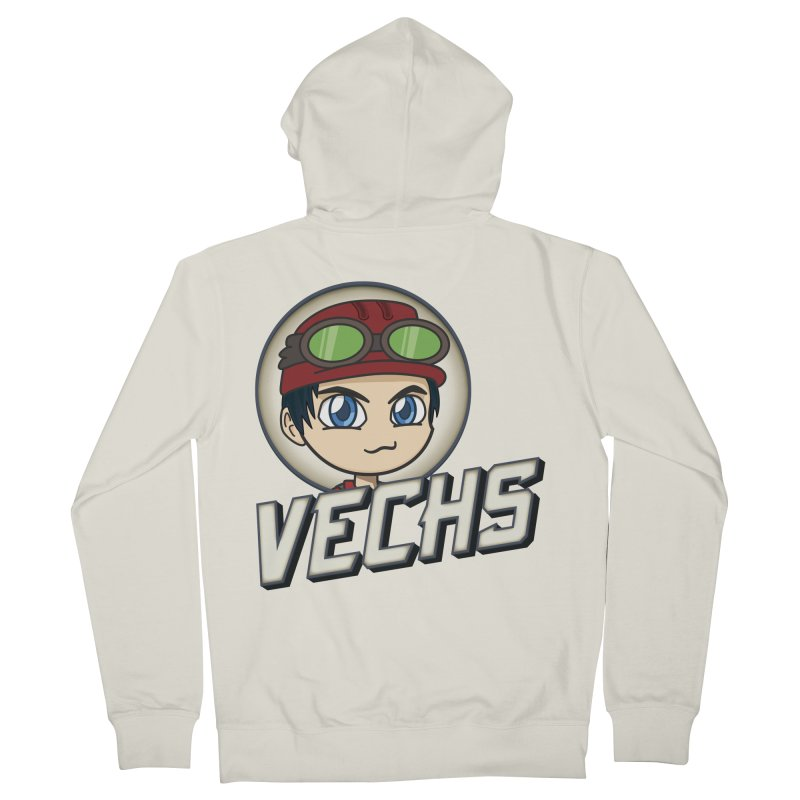 Vechs Logo Men's French Terry Zip-Up Hoody by All Things Vechs