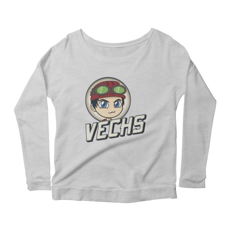 Vechs Logo Women's Scoop Neck Longsleeve T-Shirt by All Things Vechs