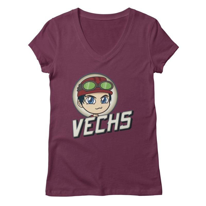 Vechs Logo Women's Regular V-Neck by All Things Vechs