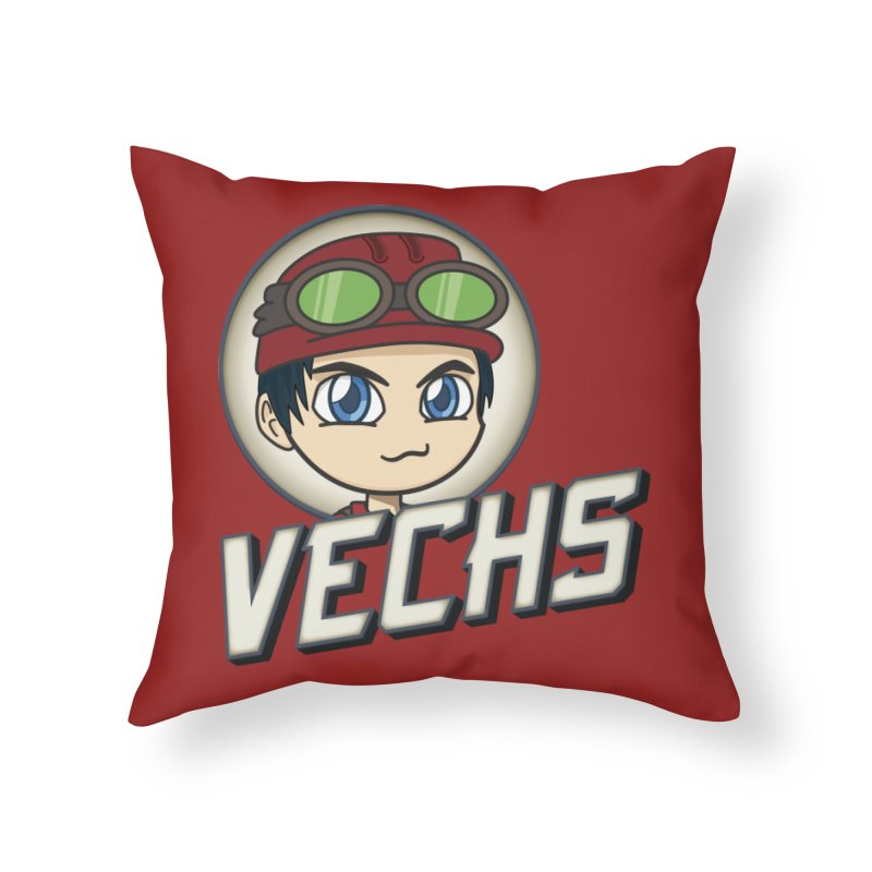Vechs Logo Home Throw Pillow by All Things Vechs
