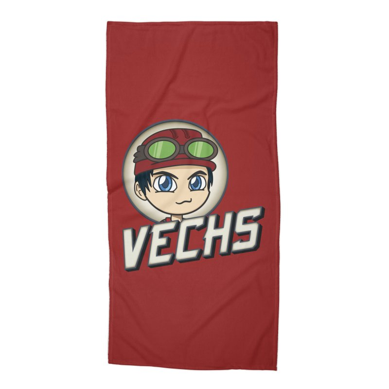 Vechs Logo Accessories Beach Towel by All Things Vechs