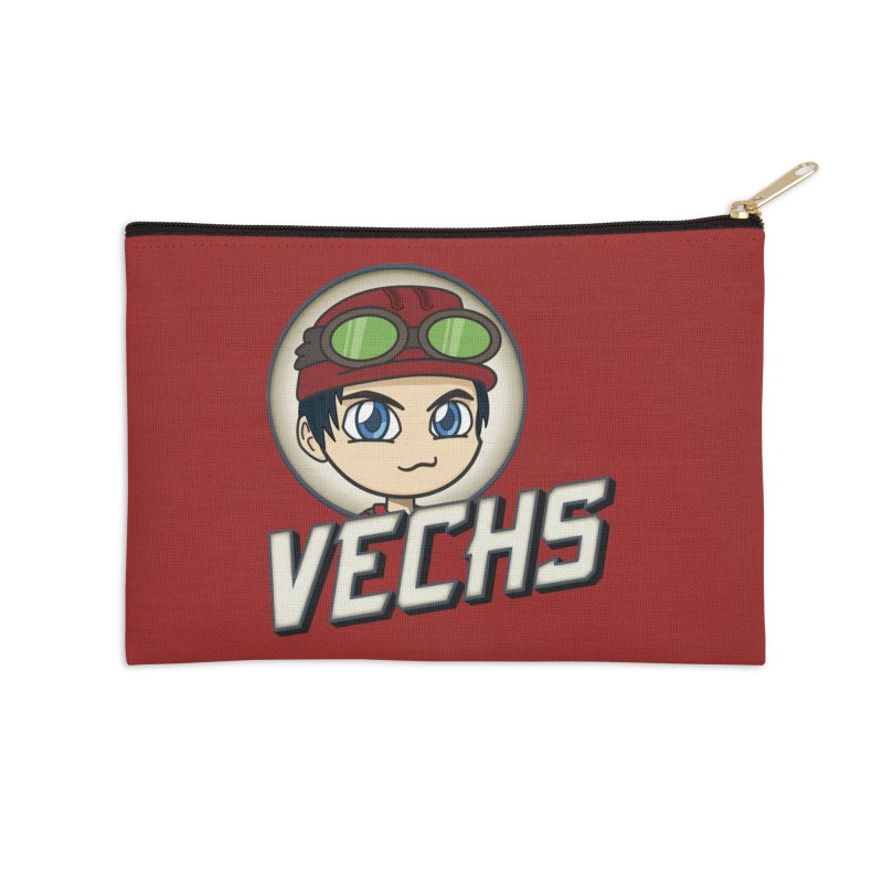 Vechs Logo Accessories Zip Pouch by All Things Vechs