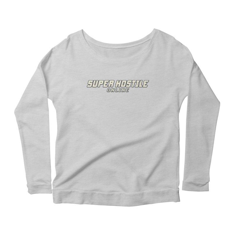 Super Hostile Online Women's Scoop Neck Longsleeve T-Shirt by All Things Vechs