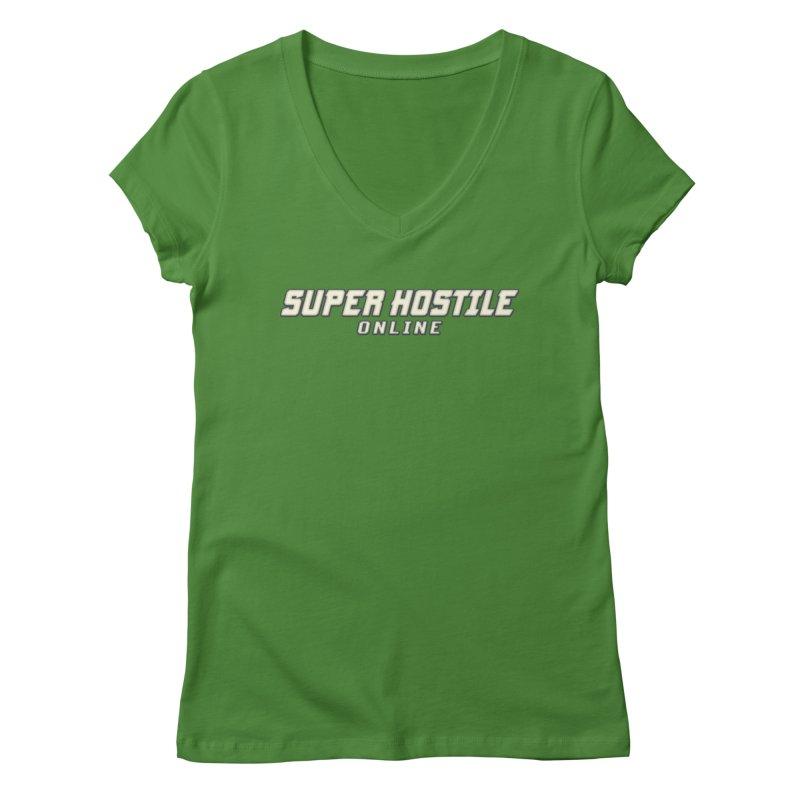 Super Hostile Online Women's Regular V-Neck by All Things Vechs