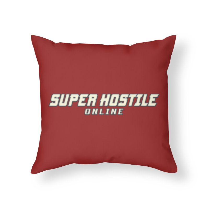 Super Hostile Online Home Throw Pillow by All Things Vechs
