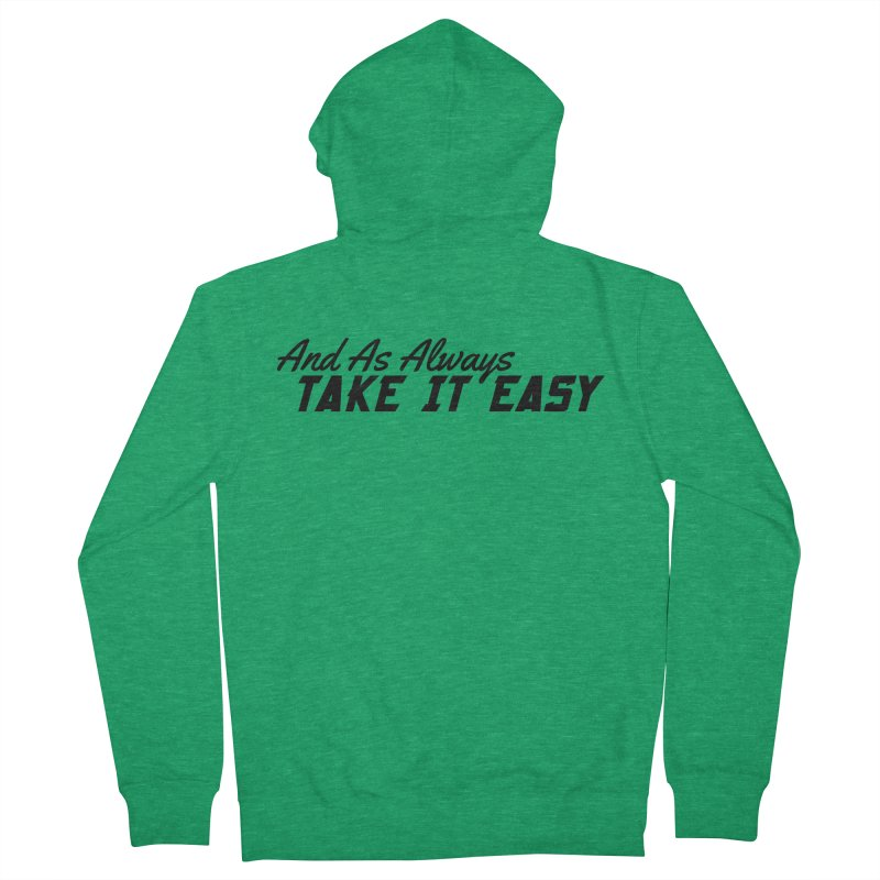 Take It Easy - Dark Men's French Terry Zip-Up Hoody by All Things Vechs