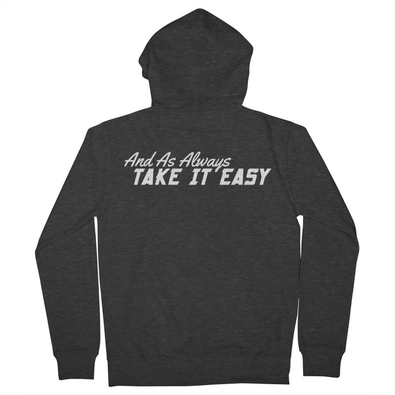 Take It Easy - Light Men's French Terry Zip-Up Hoody by All Things Vechs