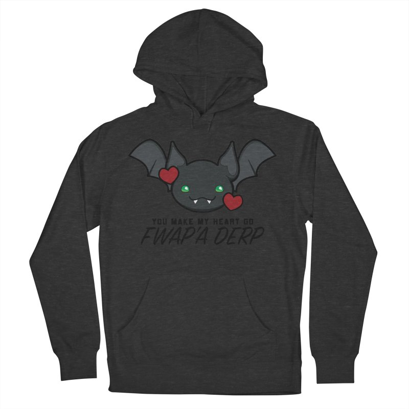 Fwap'a Derp Heart Men's French Terry Pullover Hoody by All Things Vechs
