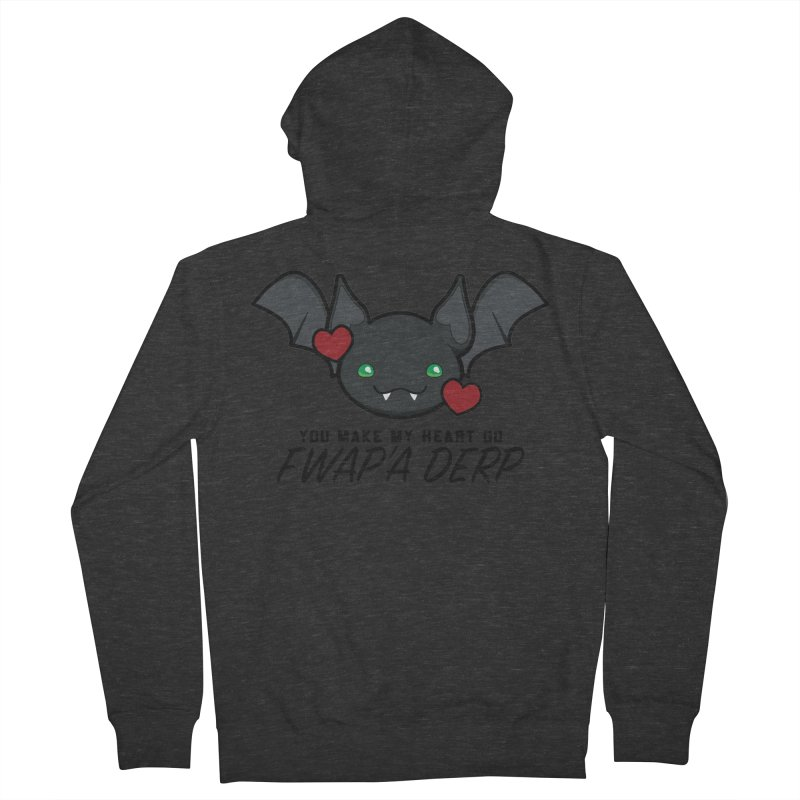 Fwap'a Derp Heart Women's French Terry Zip-Up Hoody by All Things Vechs