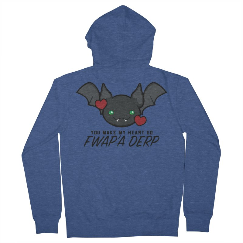 Fwap'a Derp Heart Men's French Terry Zip-Up Hoody by All Things Vechs