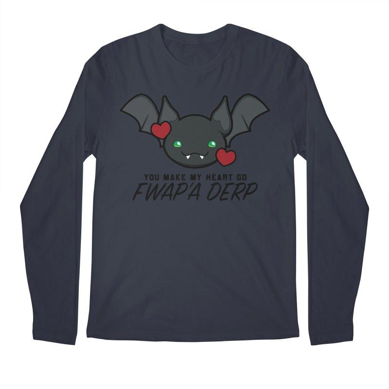 Fwap'a Derp Heart Men's Regular Longsleeve T-Shirt by All Things Vechs
